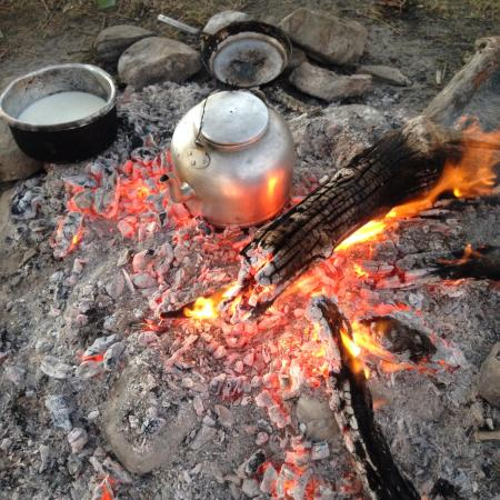 Oldarpoi Mara Camp: Breakfast on the go