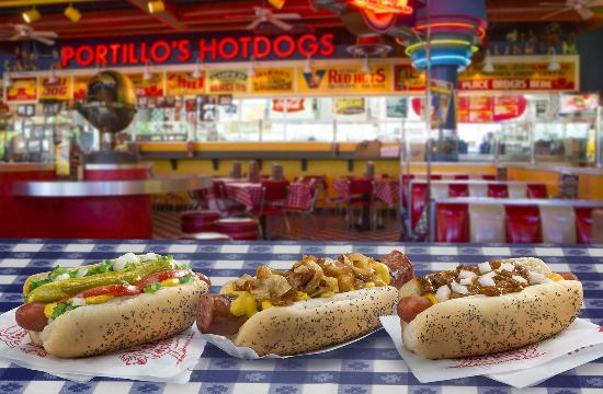 Portillo's Hot Dogs: Chicago-Style Hot Dog, Maxwell Street Polish, Chili Dog
