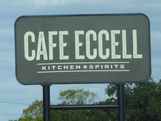 cafe eccell street sign on texas avenue picture of cafe eccell