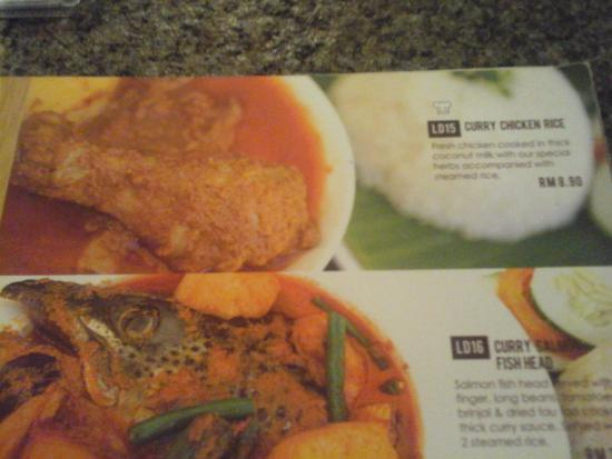 Menu-Chicken Curry - Picture of Lucy's