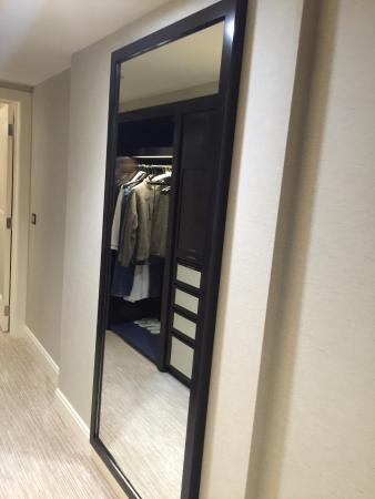 Mirror In Hallway full-length mirror in hallway of premiere executive suite