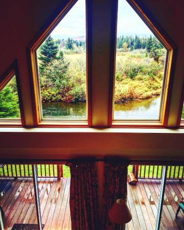 Pittsburg, NH: Edgewater Cabin - View from the mezzanine