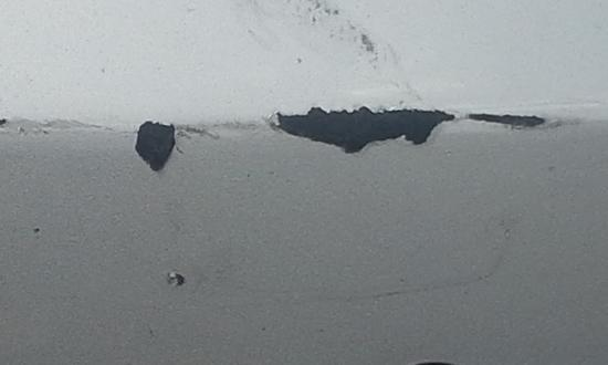 Amethyst Beach Motel: Damage to our car