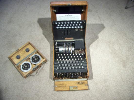 North Chatham, MA: Enigma machine and extra rotors