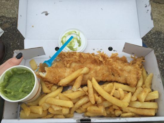 Gorgeous fish and chips!