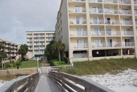 View Of Hotel From Beach Picture Of Hilton Garden Inn Orange Beach Orange Beach Tripadvisor