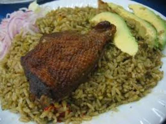 La Perla de las Flores Restaurant: arros con pato chiclayano