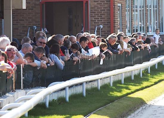 Kinsley Greyhound Stadium: track side