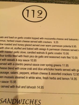 Bin 119: Good menu