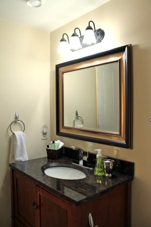 winedownhere bed breakfast bathroom vanity - Bathroom Cabinets Kelowna