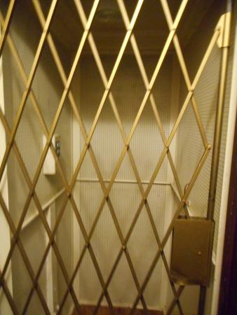 Silverstone Bed & Breakfast: The infamous elevator, with closed gate.
