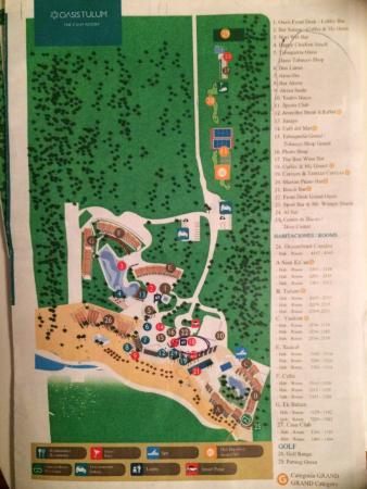 Map of resort/buildings - Picture of Sunscape Akumal Beach ...