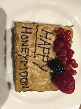 Ibis Styles Dubai Jumeira Happy Honeymoon Cake From Staff