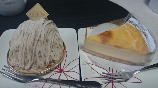Patisserie SOURIRE: モンブランとチーズケーキ