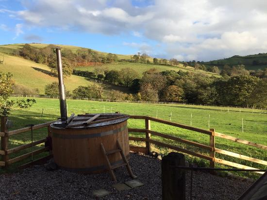 Tremeirchion, UK: the hot tub and view