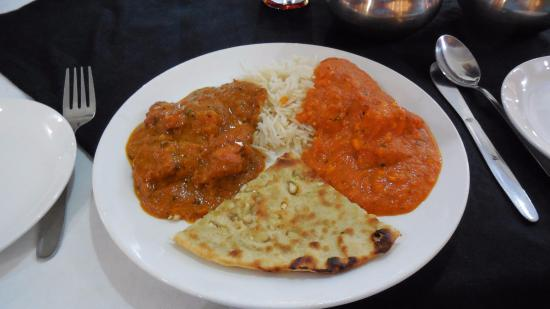 Namaste India: Chicken Tikka Masala, Paneer Butter Masala, Garlic Naan
