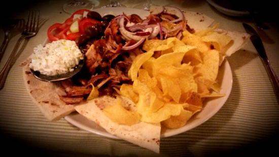 Vaca Loca : Giros, piatto completo che non necessita di antipasti.