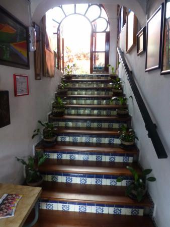 la casa azul escaleras desde la recepcin al patio interior