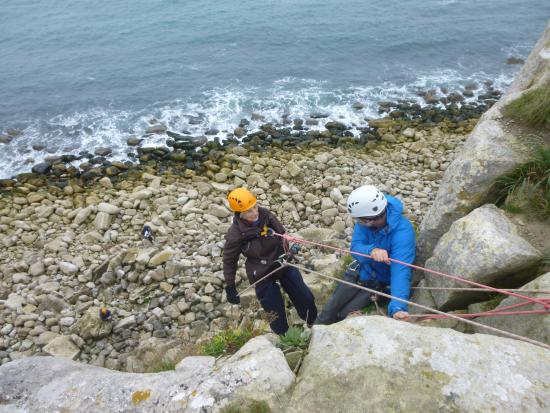Bere Regis, UK: Abseiling at 81years old- so proud of you Mum!