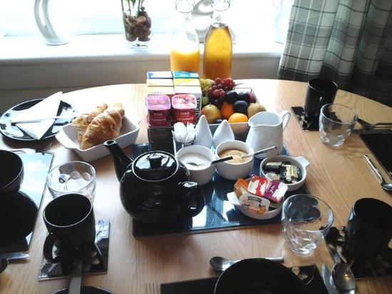 Kinlochbervie, UK: Breakfast Table