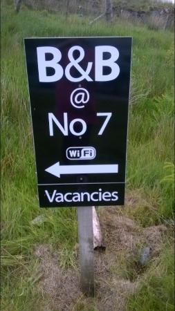 Kinlochbervie, UK: Sign
