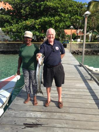 Richmond, Bequia: Fish for supper!