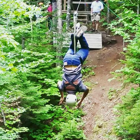 Stratton, ME: Zip Line at the Sugarloaf Outdoor Center, nearby,