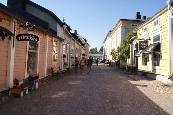 Porvoo, Finland: Streets of Porvo Old Town