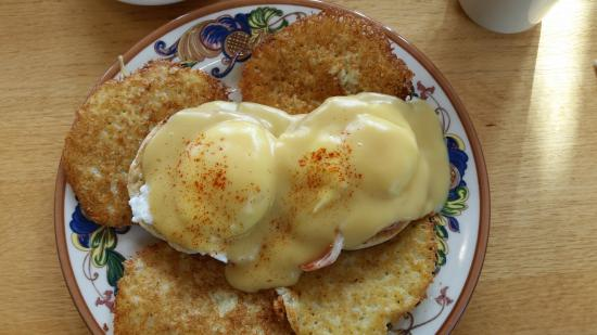 Eggs Benedict And Potato Pancakes Picture Of Oak Table Cafe - Oak table restaurant silverdale