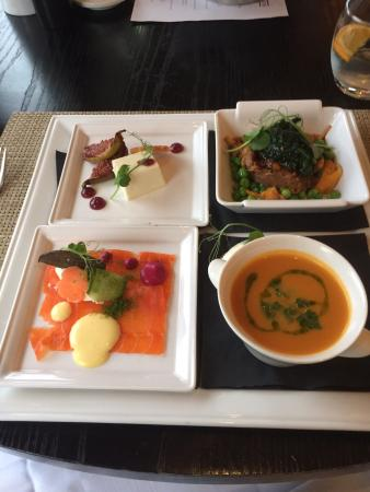 Rocpool Reserve hotel & Chez Roux: Express lunch....art on a plate