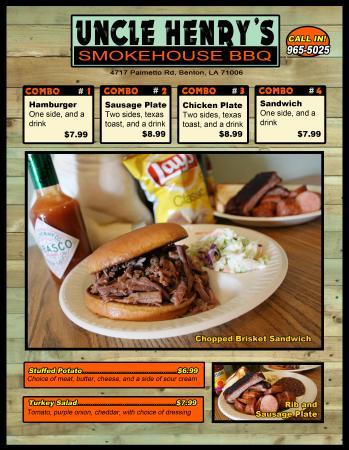 Uncle Henry's Smokehouse BBQ: Menu