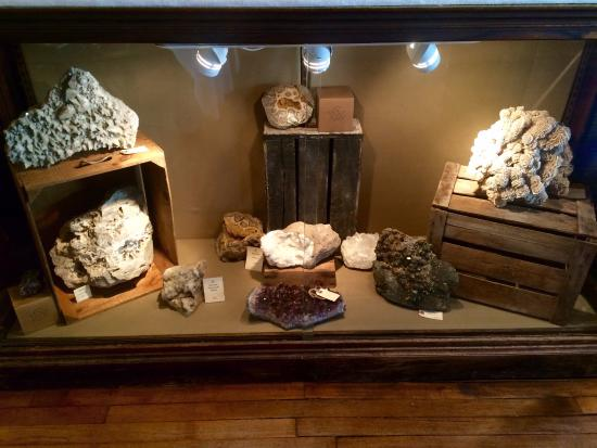 Bellows Falls, เวอร์มอนต์: Fossils in the minerals section
