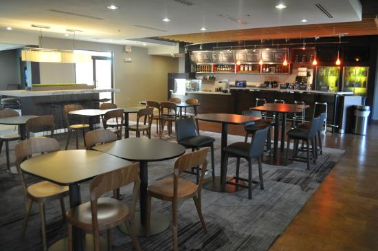 Courtyard New Haven Orange: Renovated Lobby/Bistro as of October 2015