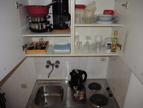 Hotel Hanzestadslogement De Leeuw: Hotel De Leeuw: kitchenette in room