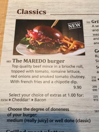 MAREDO Steakhouse Wiesbaden: The burger was nice and cooked well. The meal was artesian and a bit fancy for our taste. Great