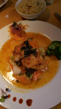 Oaki Steakhouse: VOLCANO SEA BASS