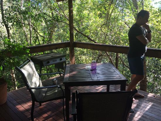 Hunchy Hideaway: Deck and leafy views (feat. handsome hubby)