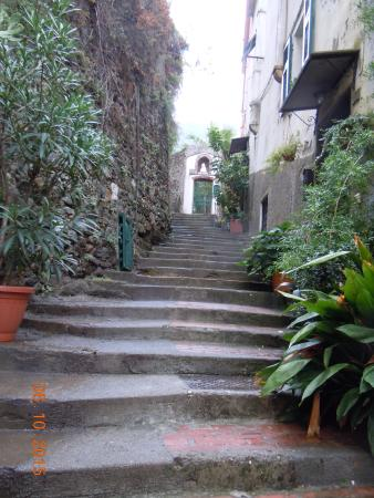 Vernazza Rooms: Some of the 167 steps up to the room