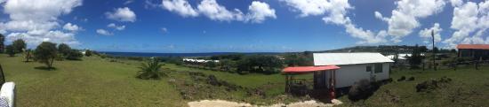 Cabanas Manatea: Vista desde la entrada de la cabaña