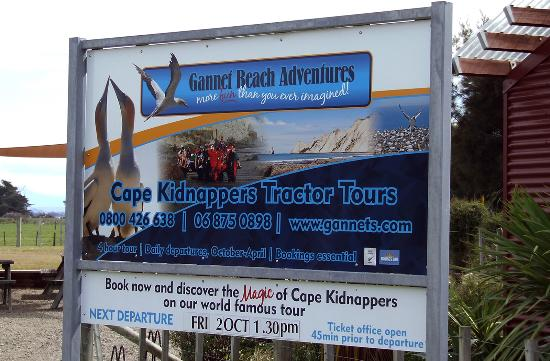 Gannet Colony: Ticket Office Sign