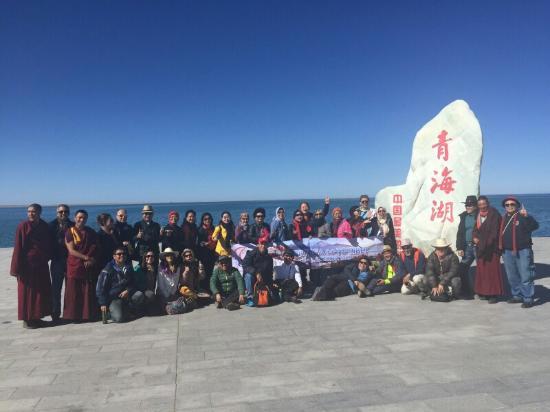 Haiyan County, China: Group photo at the jetty