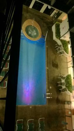 Oak Square at Gatlinburg: pool from 4th floor