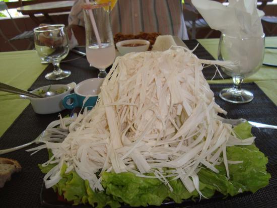 Restaurant Anses Des Cascades Salade De Palmistes