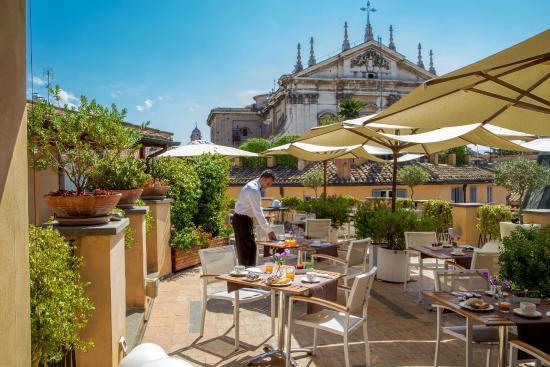 La Terrazza Superiore Picture Of 9 Hotel Cesari Rome