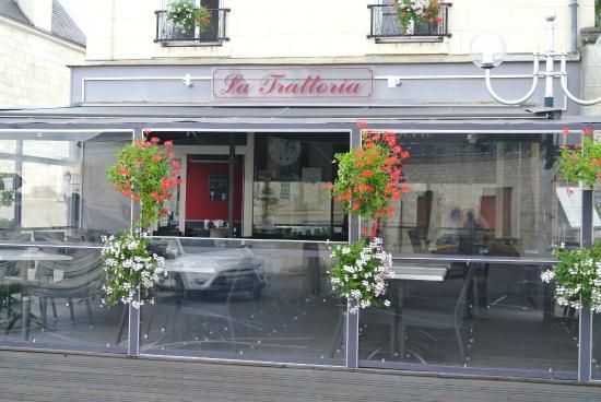 Bourgueil, France : Notre terrasse couverte
