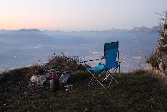 Wild camping at Fort Saint-Eynard