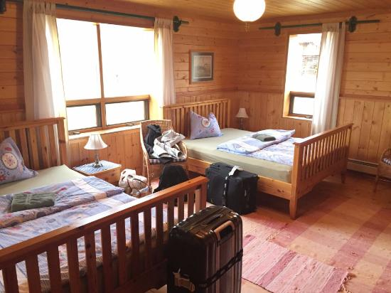 Cariboo, Canadá: Das Zimmer im Erdgeschoss des Gästehauses
