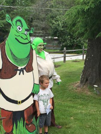 Forestburgh, NY: Shrek and his buddy!