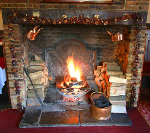 Kings Arms Hotel: Real Log Fire