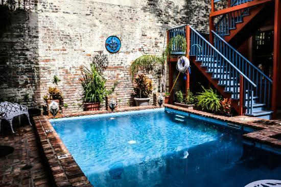 The Frenchmen Hotel Pool is heated year round and is a real French Quarter treasure.